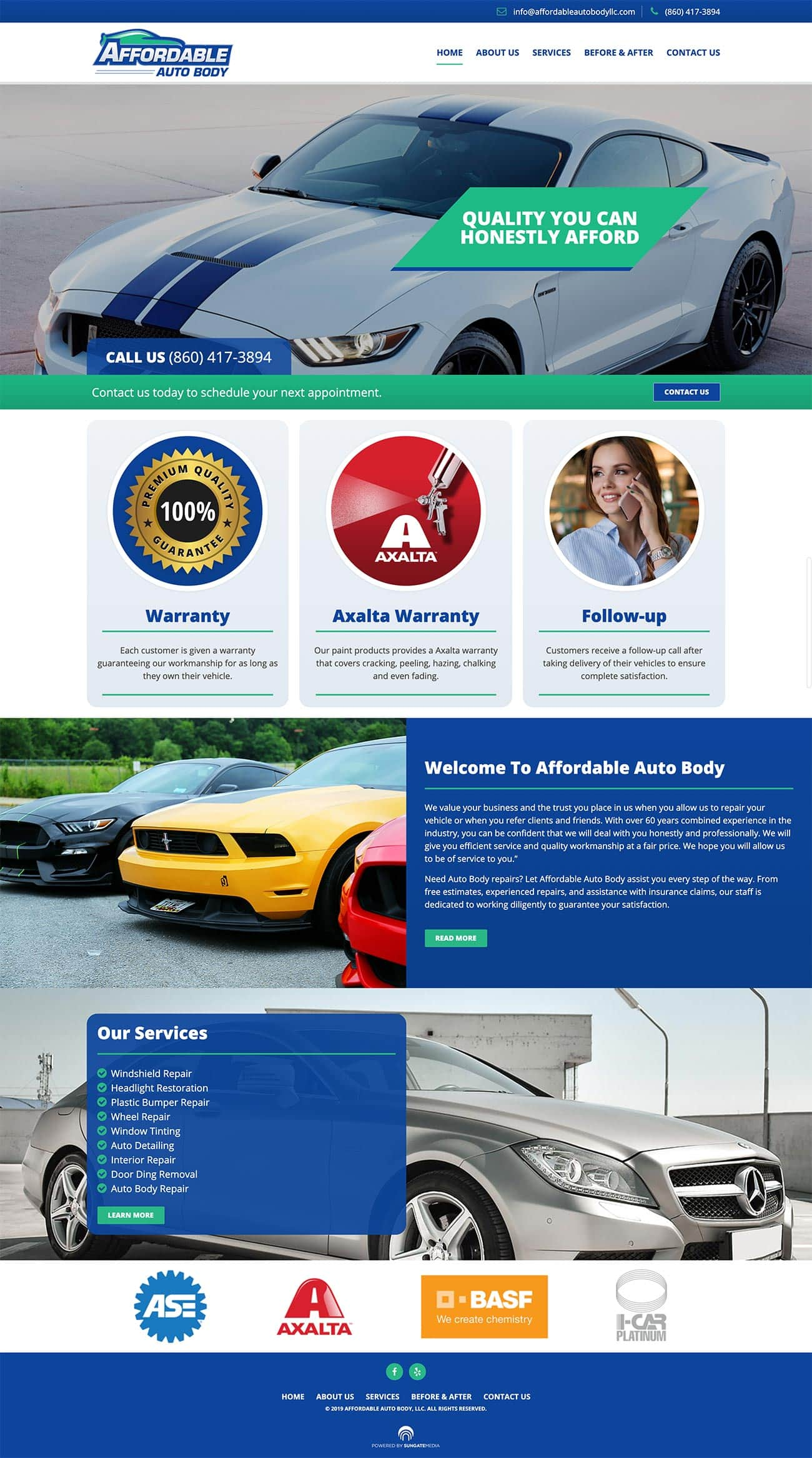 Affordable Auto Body Website