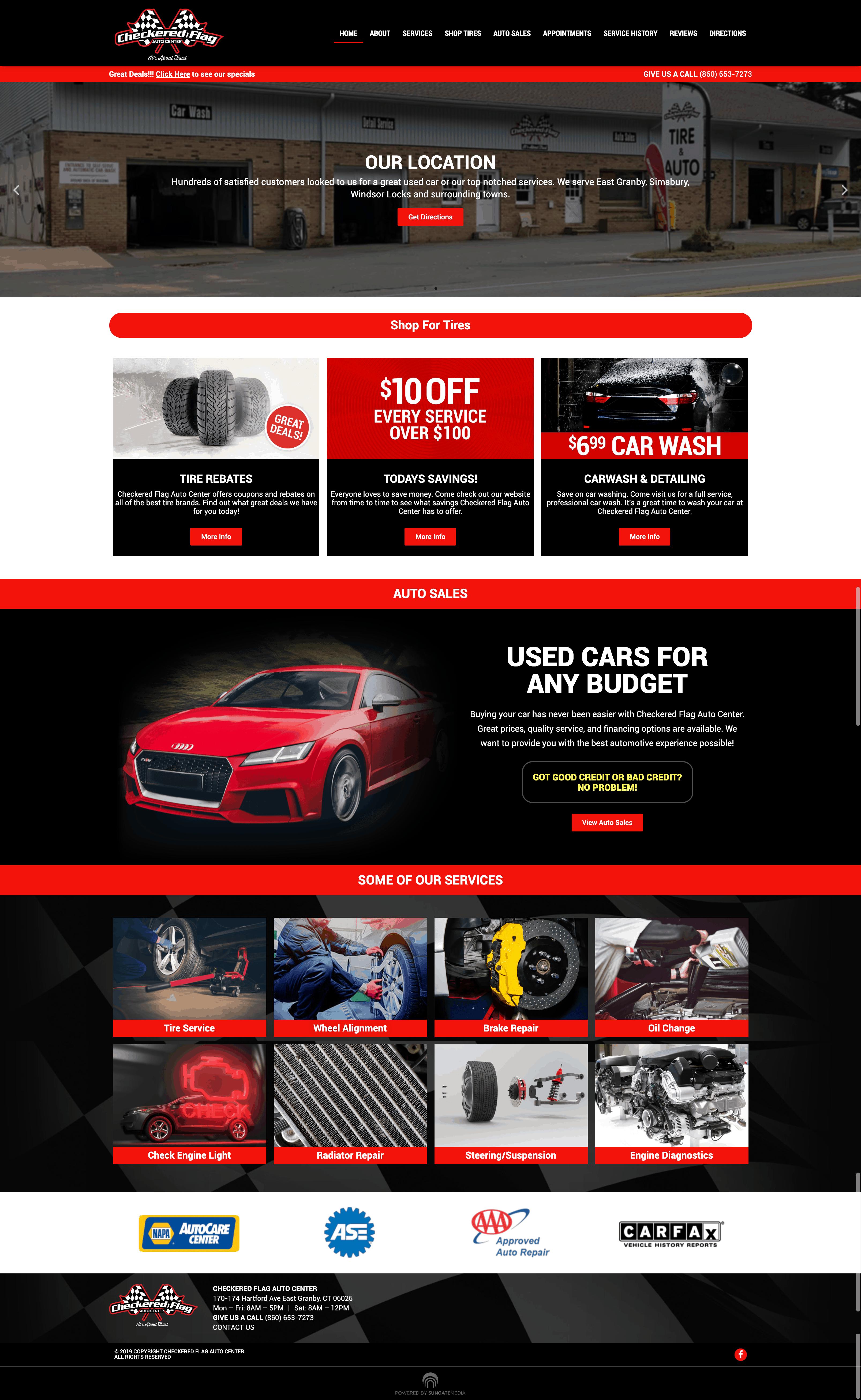 Checkered Flag Auto Center Website